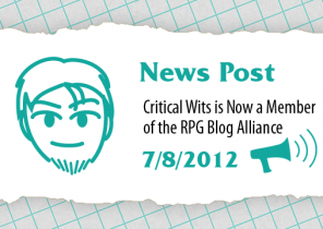 Critical Wits is Now a Member of the RPG Blog Alliance