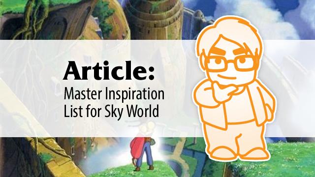 Master Inspiration List for Sky World